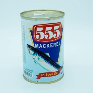 555 Mackerel In Soya Oil 425g