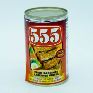 555 Fried Sardines Spicy 155g